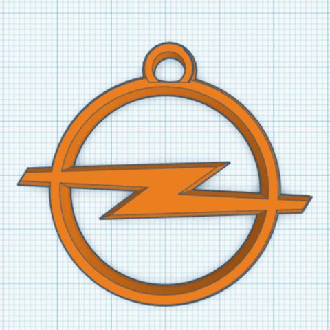 Sin564645o.png Download STL file Opel key ring • 3D print design, LnZProd