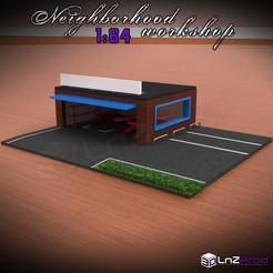 Principal_1.jpg Download STL file Neighborhood workshop diorama 1-64 • 3D printing model, LnZProd