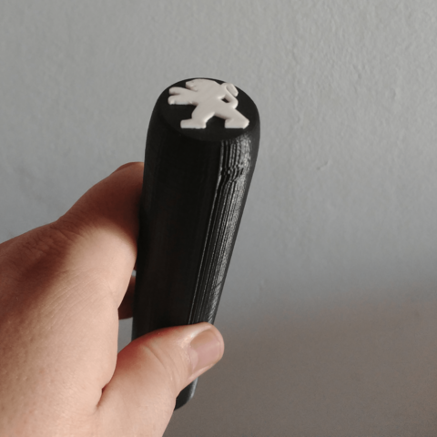 STL file Peugeot car knob, sinteprod