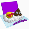 3D print files Photo frame emoticons, LnZProd