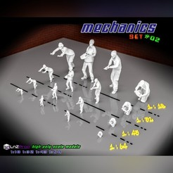 1.jpg Download STL file Mechanics set scale models #02 • Model to 3D print, LnZProd