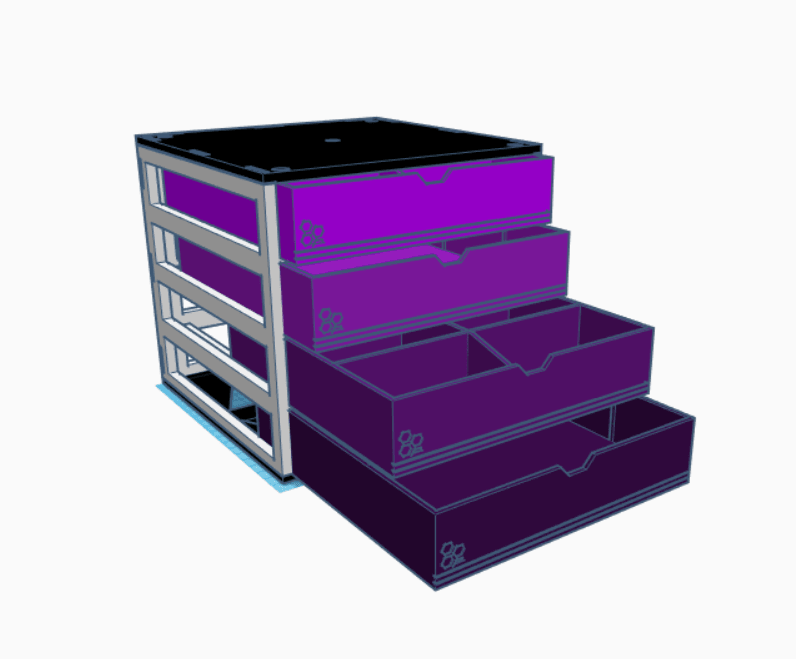 Completo.png Download STL file Modular desktop organizer • 3D printing design, LnZProd