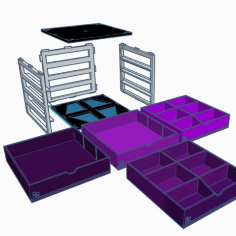 Desmontado.png Download STL file Modular desktop organizer • 3D printing design, LnZProd