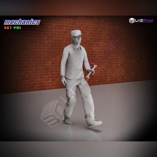 4.jpg Télécharger fichier STL Ensemble de modèles mécaniques à l'échelle #01 • Plan pour impression 3D, LnZProd