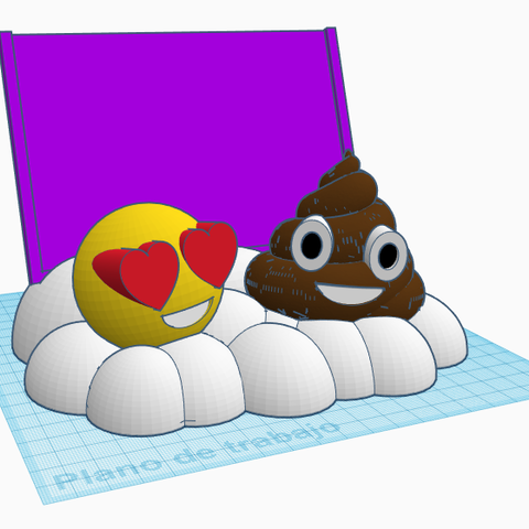Frontal sin letras.PNG Download STL file Emoticon photo frame • 3D printer template, LnZProd
