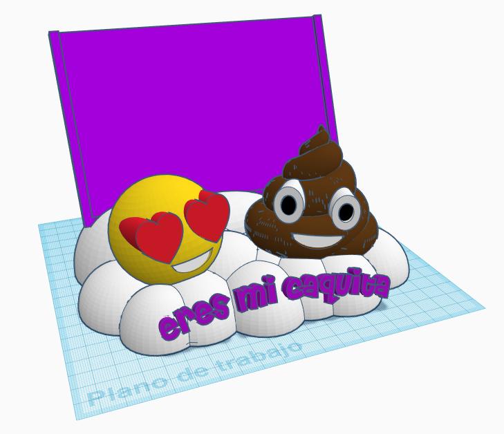 Frontal con letras.png Download STL file Emoticon photo frame • 3D printer template, LnZProd