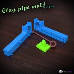 a.jpg Télécharger fichier STL Moule pour créer une pipe en terre 18cm • Design pour impression 3D, LnZProd