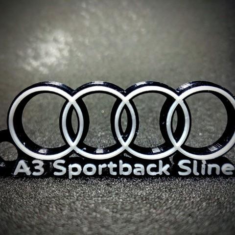Descargar archivos 3D Llavero Audi A3 Sportback S Line 2 colores, LnZProd
