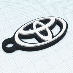 Download 3D printer model Toyota key ring 2 colours, LnZProd