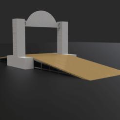Descargar archivo STL Rampa de rally 1:64 • Modelo para imprimir en 3D, LnZProd