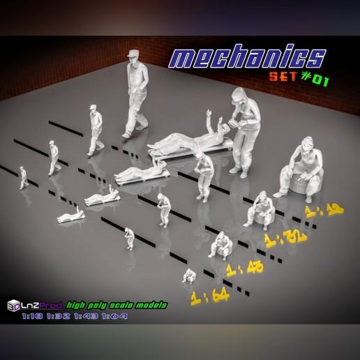 Principal.jpg Télécharger fichier STL Ensemble de modèles mécaniques à l'échelle #01 • Plan pour impression 3D, LnZProd