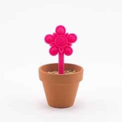 Free 3d printer designs Flower Stake, Hom3d