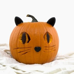 Download free 3D printer model Pumpkin Cat, Hom3d