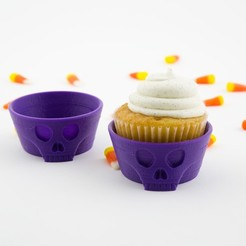 Free stl file Skull Cupcake Holder, Hom3d