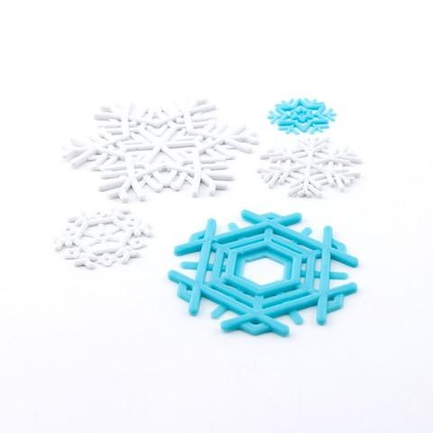 Archivos STL gratis Copos de nieve, Hom3d