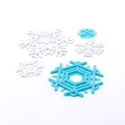 modelo stl gratis Copos de nieve, Hom3d