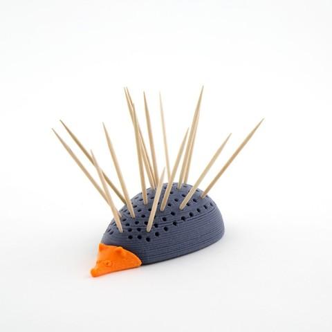 Télécharger plan imprimante 3D gatuit Affichage de cure-dents Hedgehog, Hom3d