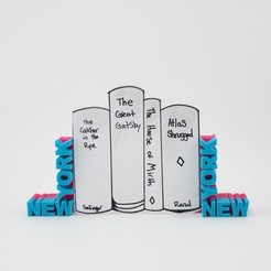 Download free 3D printing files NY Bookends, Hom3d