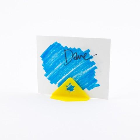 Impresiones 3D gratis Titular de la tarjeta Star of David, Hom3d