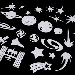 Download free 3D print files Space Decals, Hom3d
