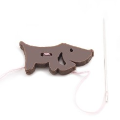 Free 3D print files Dachshund Button, Lucy_Haribert