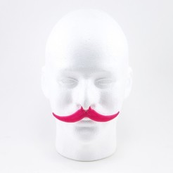 Download free 3D printing models Handlebar Mustachio, Lucy_Haribert