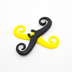 Download free 3D printer designs Curlicue Mustachio, Lucy_Haribert