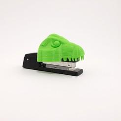 Descargar STL gratis Cubierta de grapadora de dinosaurio, Terryyy