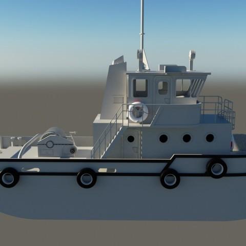 render1.jpg Download STL file MONAKO RC MODEL BOAT TUG • 3D printable template, maca-artwork