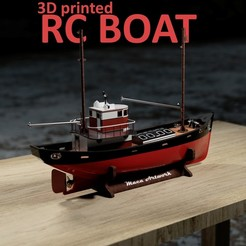 Download 3D printer designs RC FISHING BOAT , maca-artwork