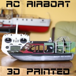 Download 3D printer designs RC AIRBOAT, maca-artwork