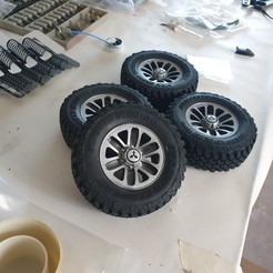 20200501_185455.jpg Download STL file Mitsubishi Pajero ´91 original rims 1:10  • 3D printable object, maca-artwork