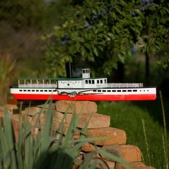 Download 3D print files Paddle Steam Boat, maca-artwork