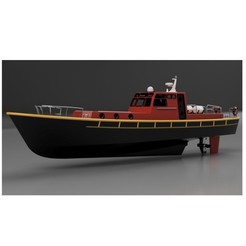 Download 3D printing templates RC BOAT - PILOT, maca-artwork