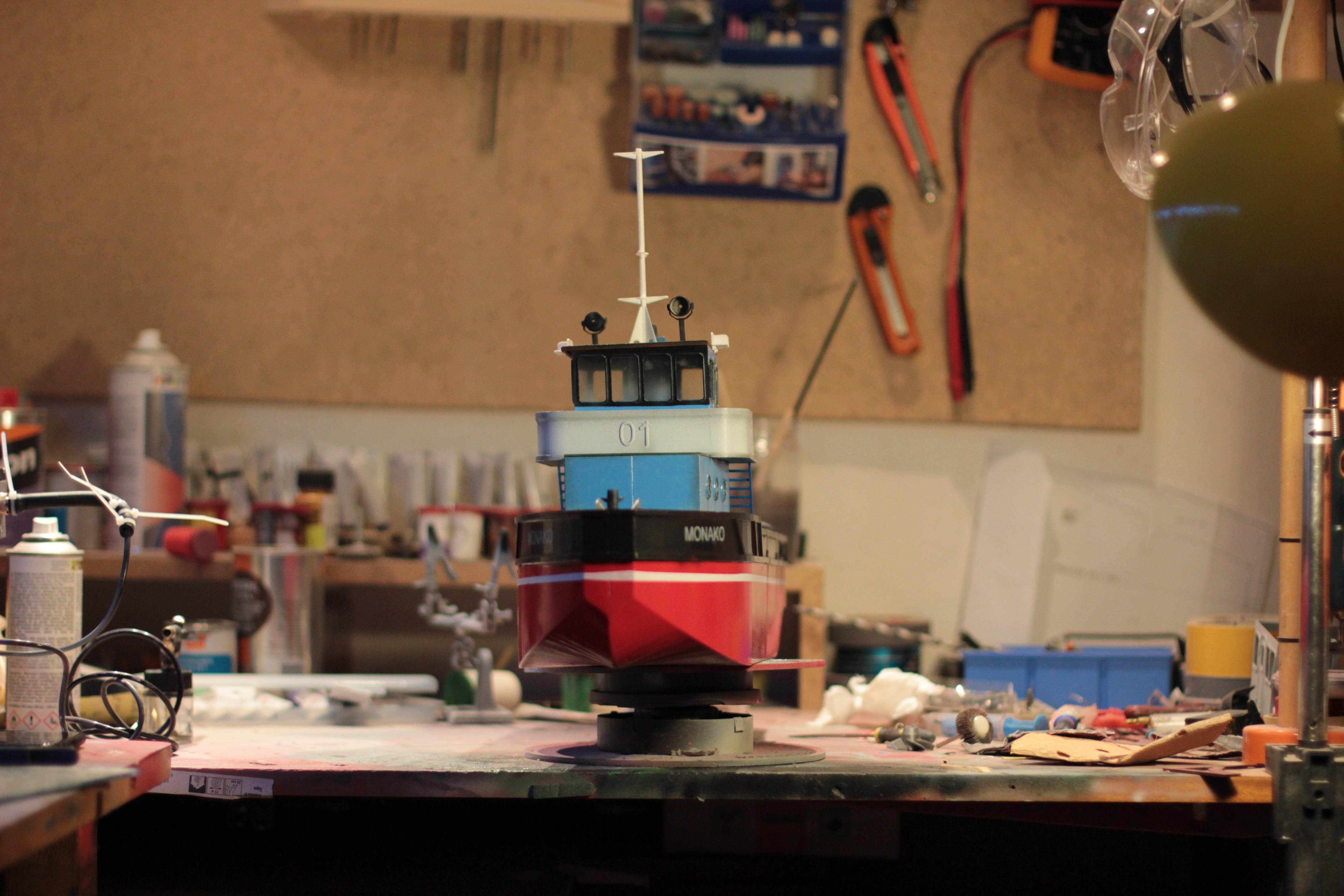 IMG_9101.JPG Download STL file MONAKO RC MODEL BOAT TUG • 3D printable template, maca-artwork
