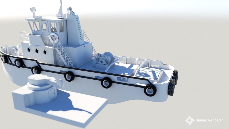 render4.jpg Download STL file MONAKO RC MODEL BOAT TUG • 3D printable template, maca-artwork