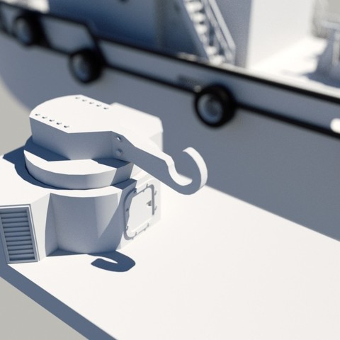 render5.jpg Download STL file MONAKO RC MODEL BOAT TUG • 3D printable template, maca-artwork