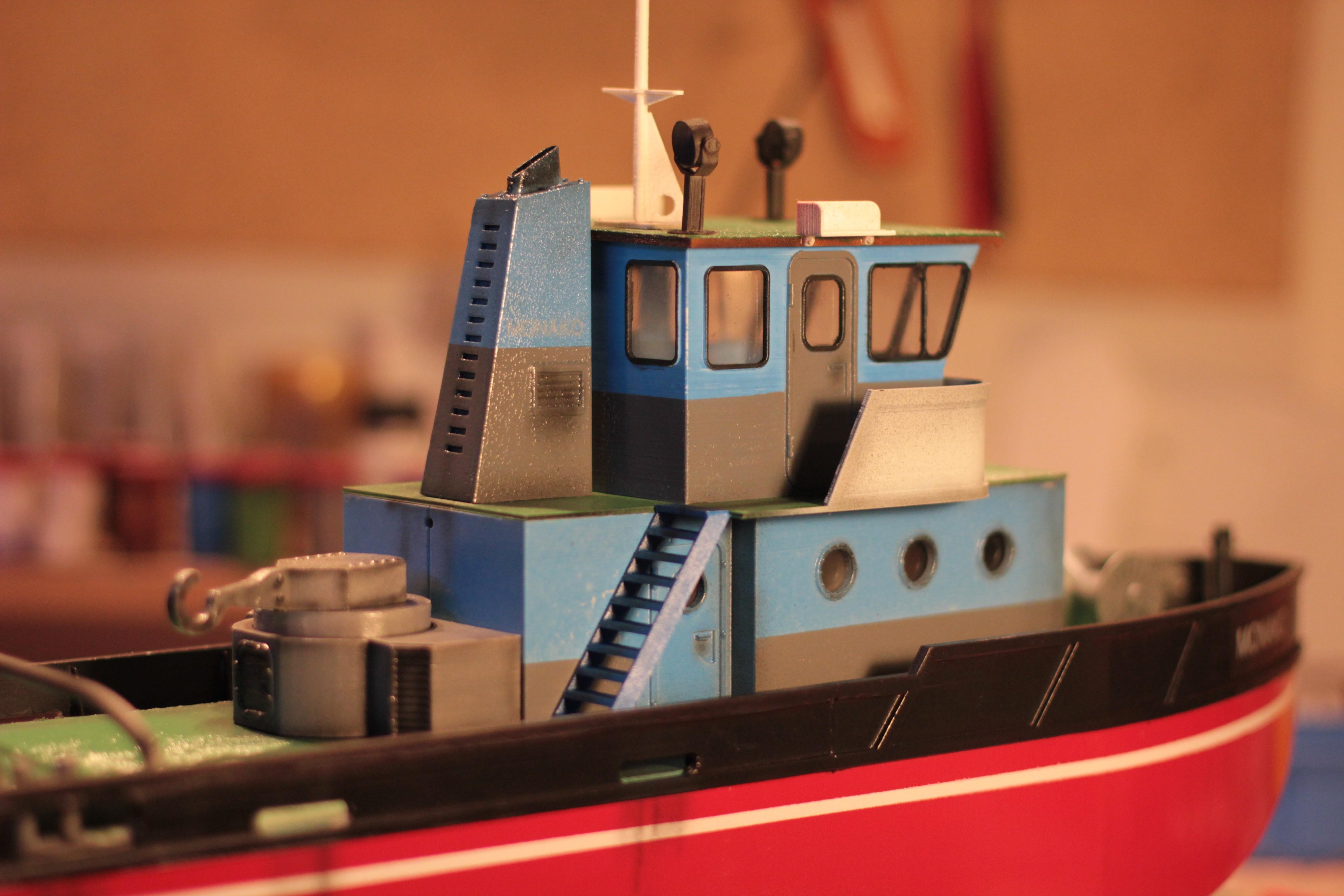 IMG_9096.JPG Download STL file MONAKO RC MODEL BOAT TUG • 3D printable template, maca-artwork