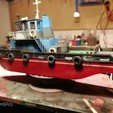 stl MONAKO RC MODEL BOAT TUG, maca-artwork
