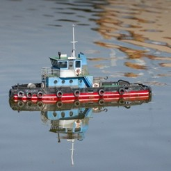 STL file MONAKO RC MODEL BOAT TUG, maca-artwork