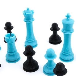 Descargar STL gratis Jumbo Chess Set, FerryTeacher
