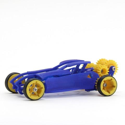 Free 3D printer files Dragster, FerryTeacher