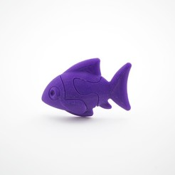 Free 3D printer designs Jigsaw Fish, FerryTeacher