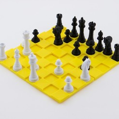 Free 3d printer files Classic Chess Set, FerryTeacher