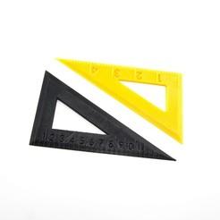 Fichier 3D gratuit Règle triangulaire, FerryTeacher