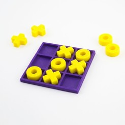 Free 3d printer model Tic-Tac-Toe, FerryTeacher