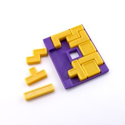 Download free 3D printing designs Quatris Puzzle, FerryTeacher