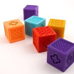 diseños 3d gratis Bloques de textura, Emiliano_Brignito