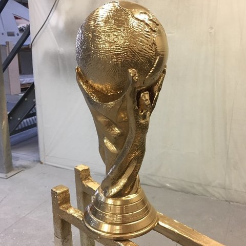 Free 3D print files FIFA World Cup Trophy (Solid Verison), 3DPrintNovesia