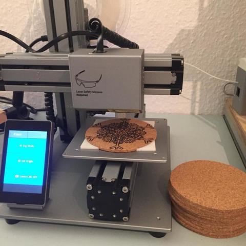 Free STL files Snapmaker Laser Corkmount, 3DPrintNovesia